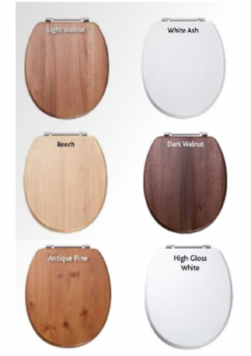 Sherwood Toilet Seat - Soft Close - Various Colours